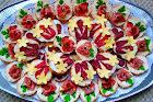 парти хапки с цветя