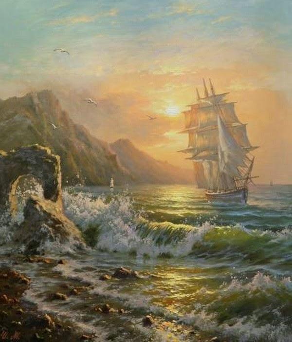 pinturas-de-paisajes-con-barcos-piratas