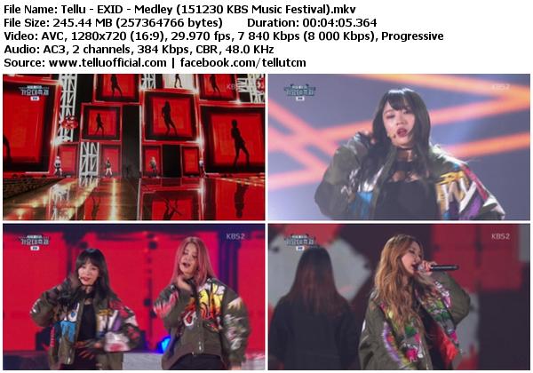 [Perf] EXID – Medley (151230 @ KBS Music Festival)