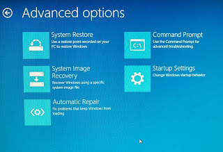 Windows 8 Advance settings options