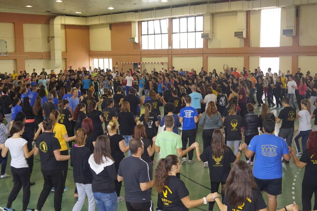 350 και πλέον χορευτές στην κεντρική πρόβα του ΣΠΟΣ Κεντρικής Μακεδονίας και Θεσσαλίας για το 10ο Φεστιβάλ