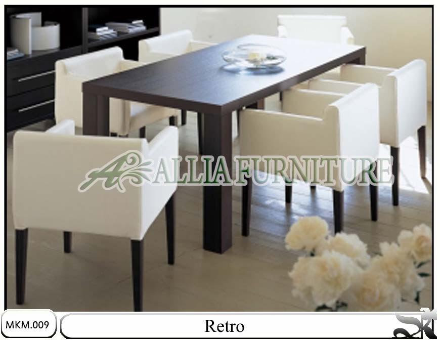 Kursi & meja makan model minimalis Retro