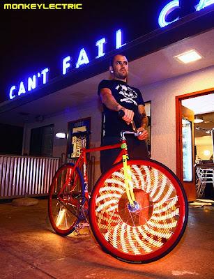 bicicleta led