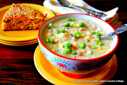 Corn Chilies and Chicken Chowder