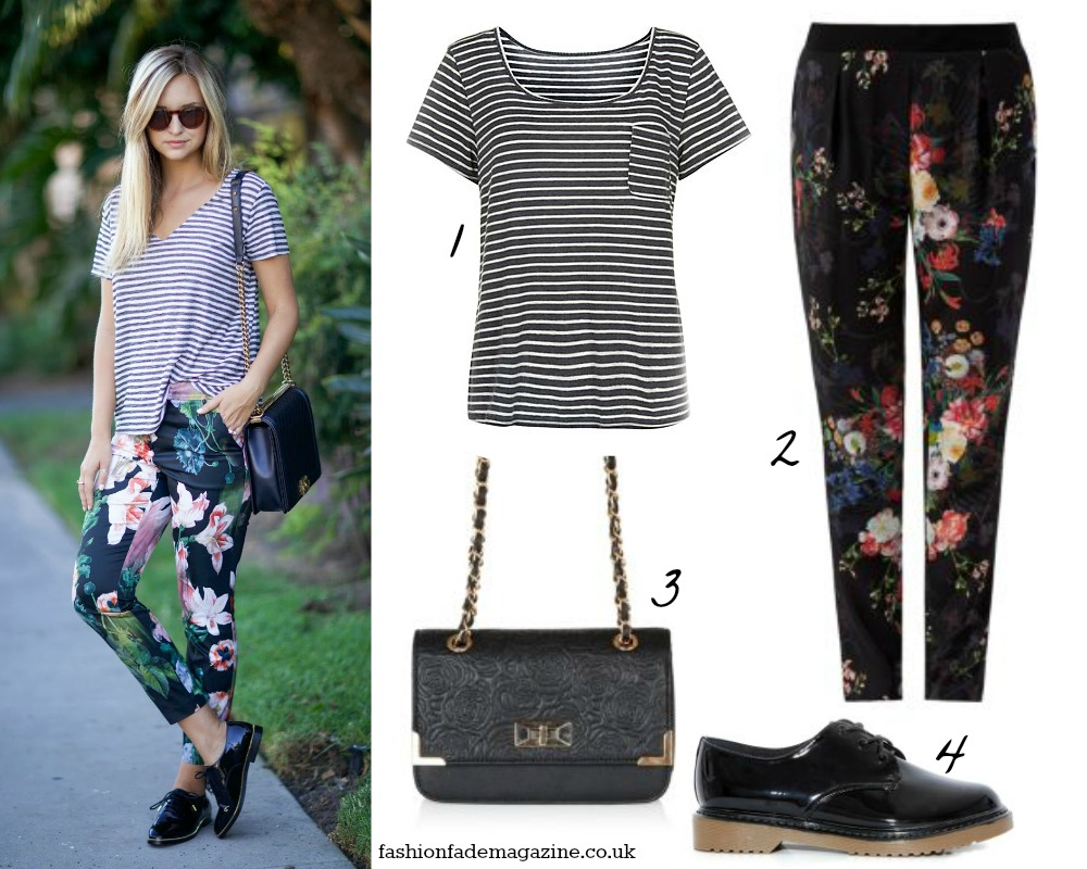 how to wear clashing prints outfit street style trend fashion 2014