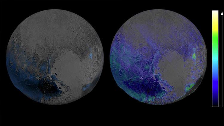 Reservas de hielo en Plutón