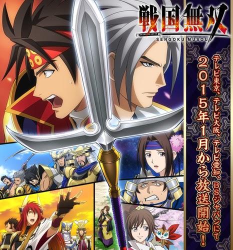 [ Info-Anime ] Game Sengoku Musou Dapatkan Adaptasi Anime