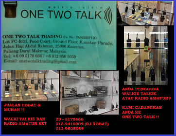 KEDAI JUALAN WALKIE TALKIE @ RADIO AMATUR