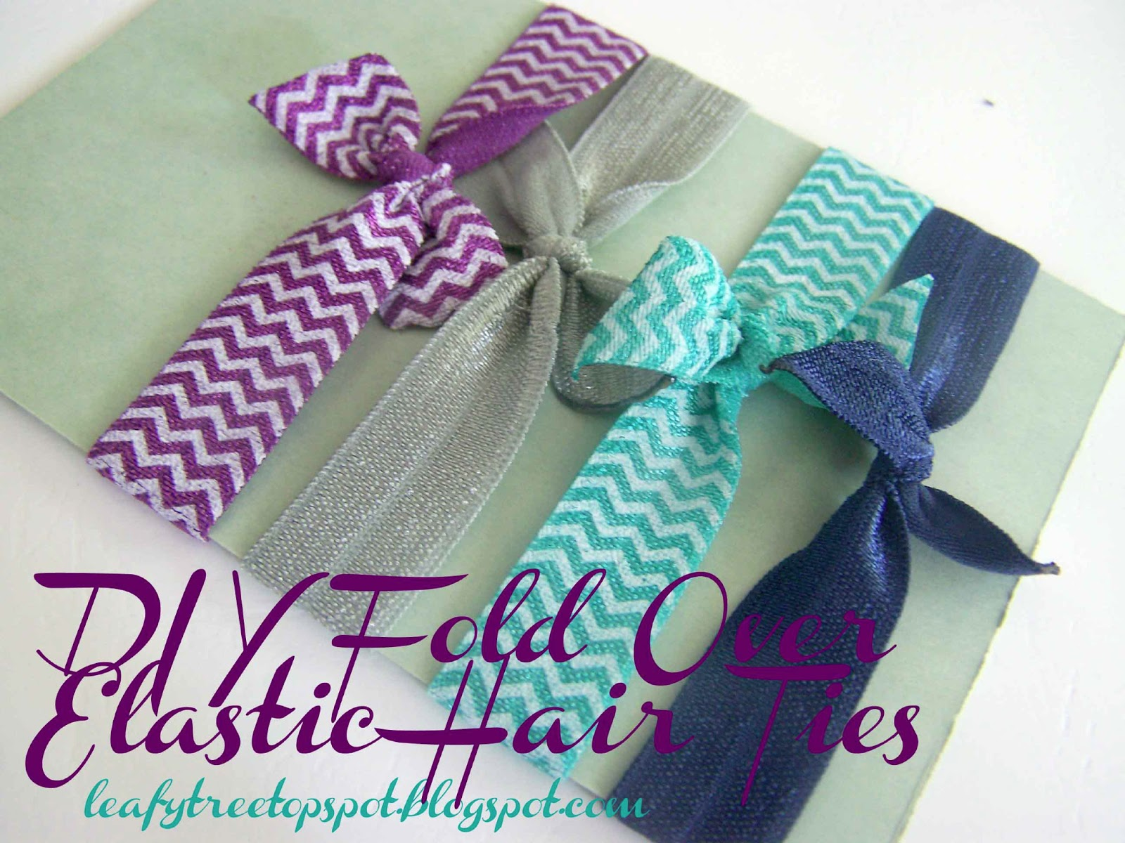 Made by Me. Shared with you.  Tutorial  DIY Fold Over Elastic Hair Ties 025bd2158b7