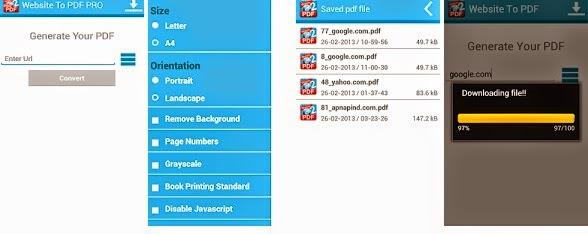 Pro web apk pdf to