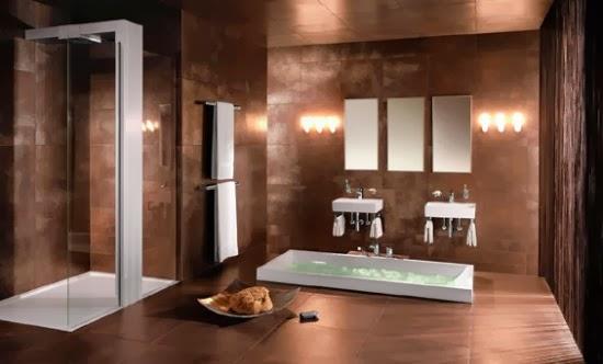 Iluminar Baño Oscuro:Baños modernos en color marrón – Colores en Casa