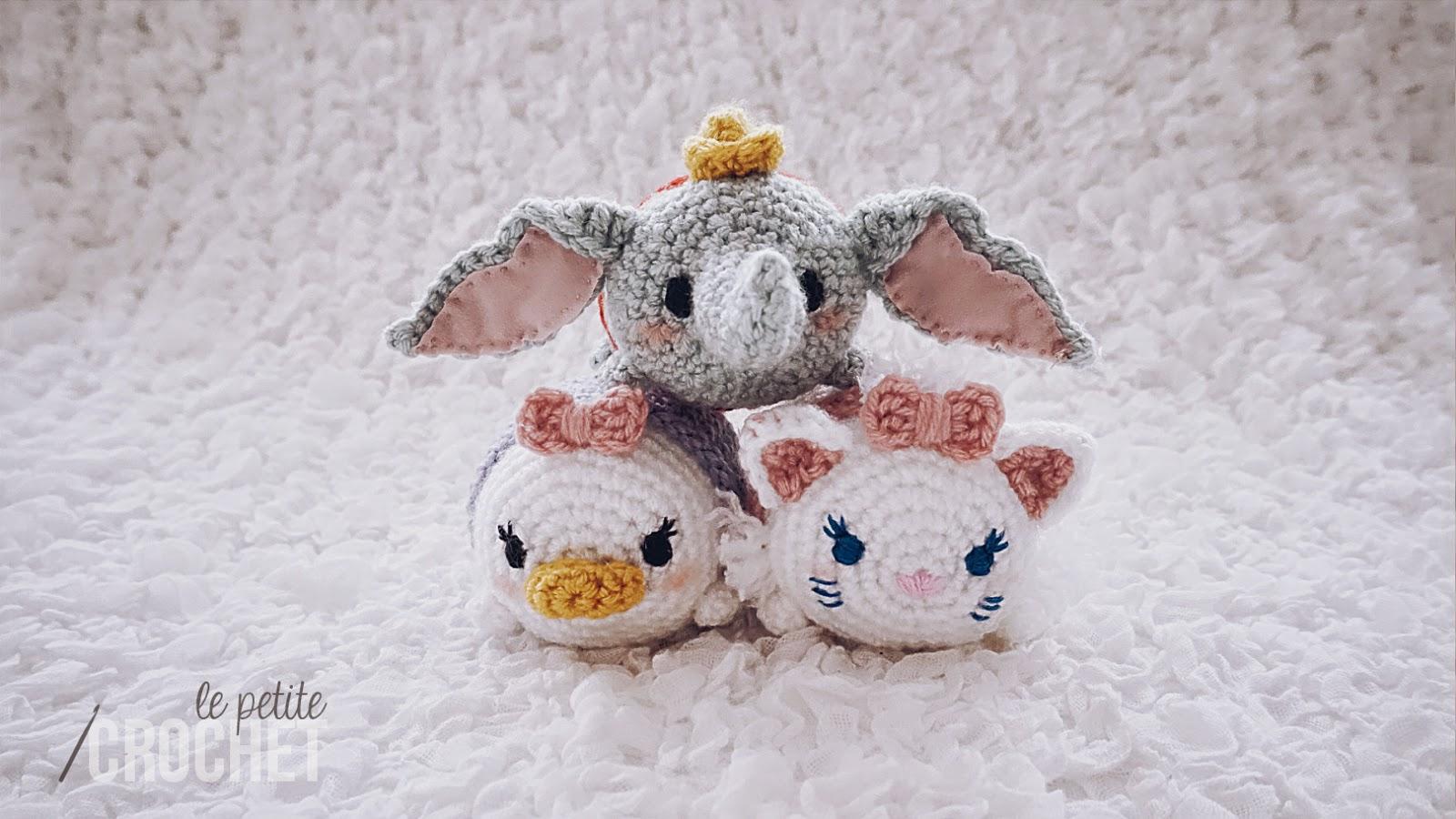 Tsum Tsum Disney Amigurumi : le petite crochet: Tsum Tsum Marie and Dumbo