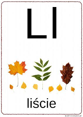 litera l do wydrukowania - alfabet