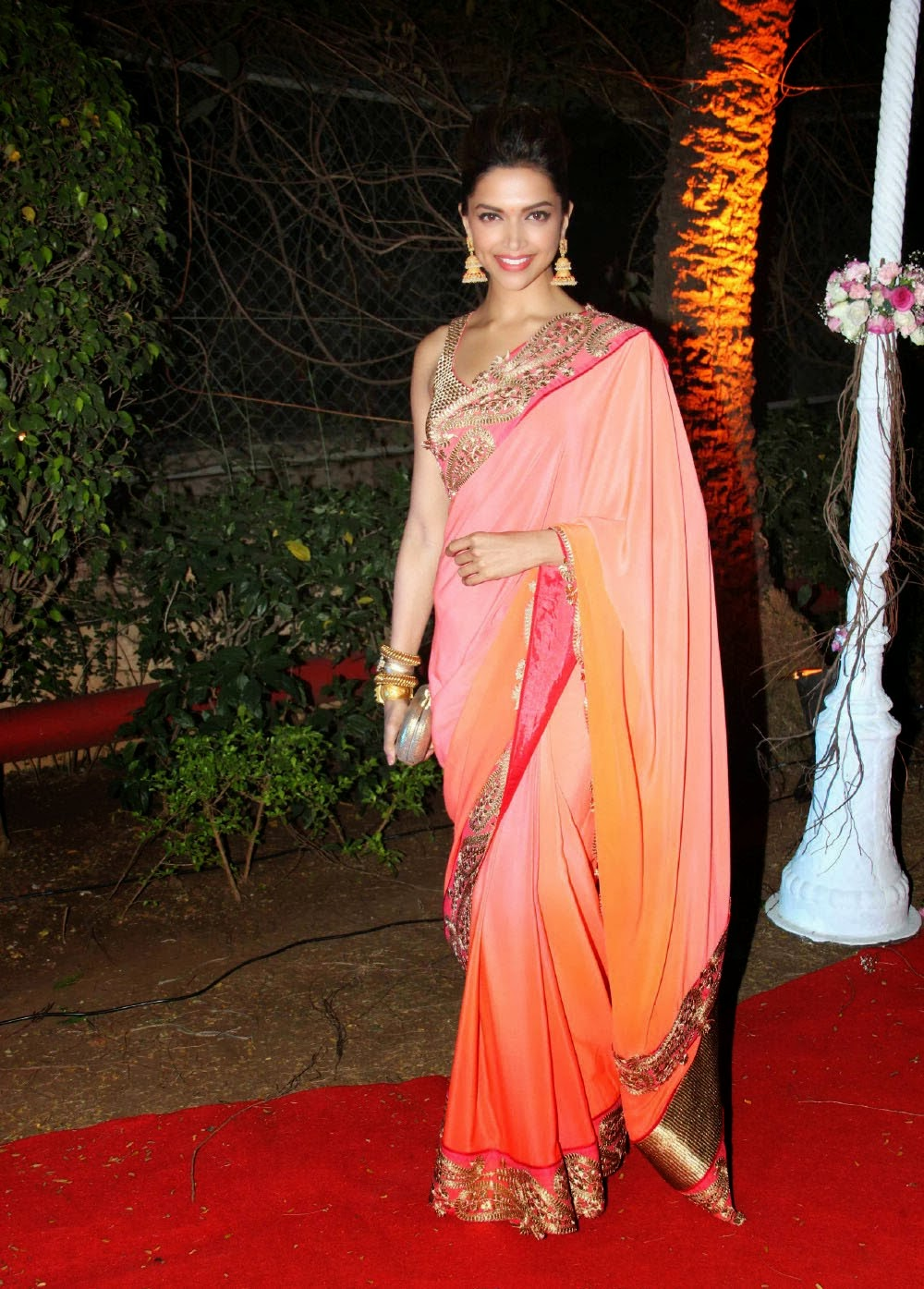 Actress Deepika Padukone Sari Stills