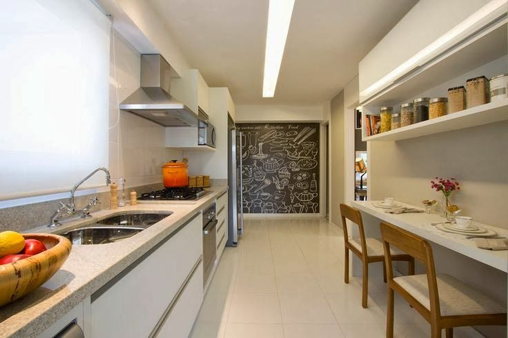 Cozinhas com bancadas de refeições rápidas  veja modelos lindos e dicas!  D # Bancada Cozinha Rodizio