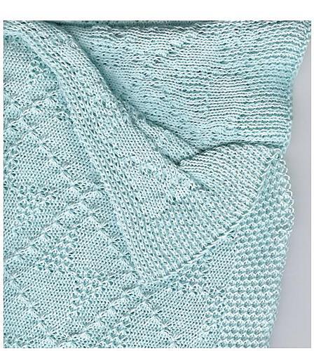 Marzipanknits Machine Knit Tuck Baby Blanket
