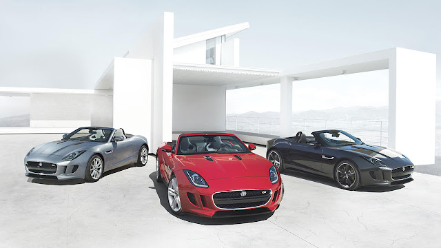 Jaguar F-Type Convertible 3 colors