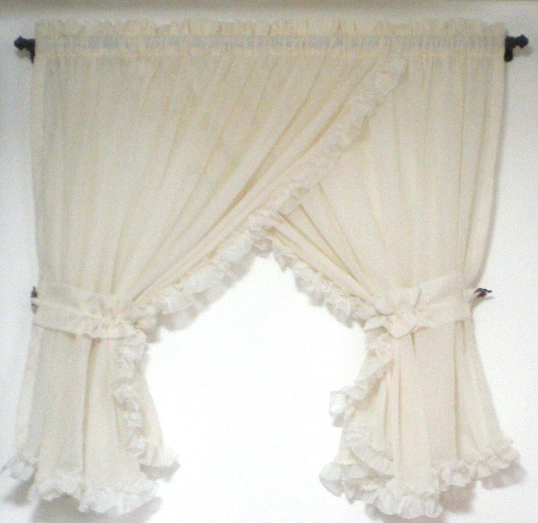 Mundo de cortinas y cojines cortina cruzada - Telas rusticas para cortinas ...
