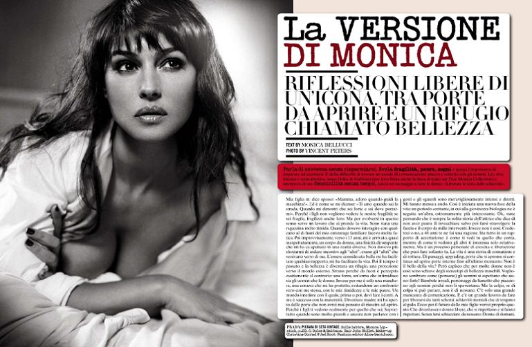 Monica Bellucci Miranda Kerr & Katie Holmes for Vogue ...