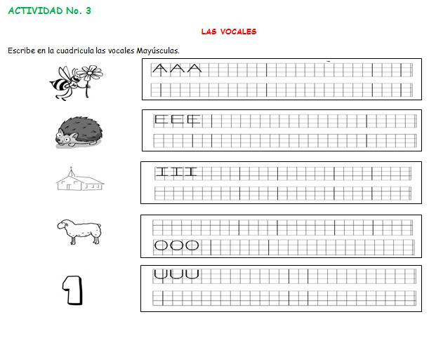lengua castellana de preescolar: Actividades de lectoescritura de ...