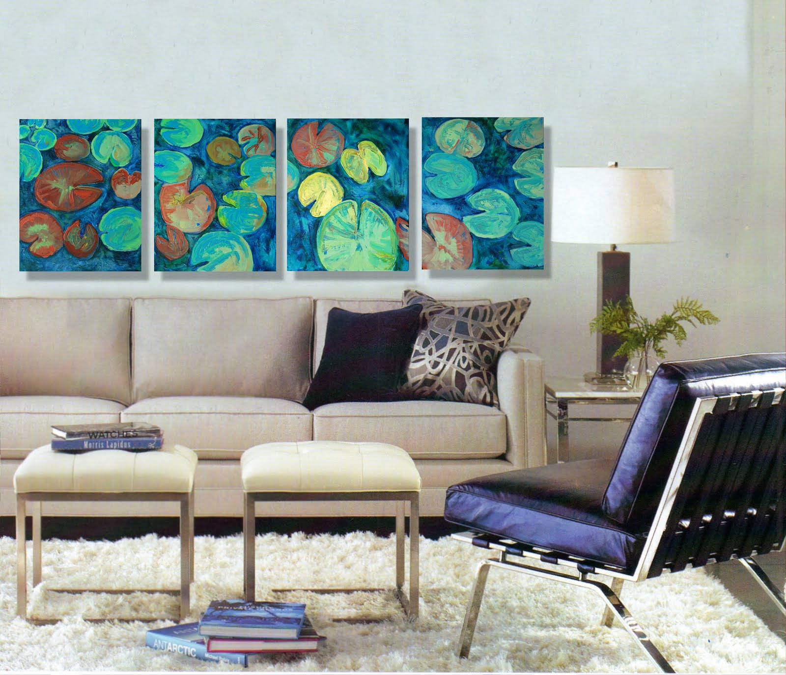 Art blog for the inspiration place decorating ideas for for Wall paintings for living room