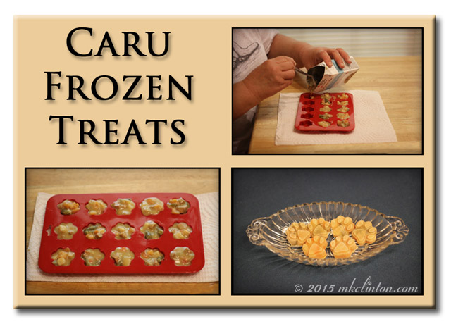 Photos showing how to make Caru Frozen Treats