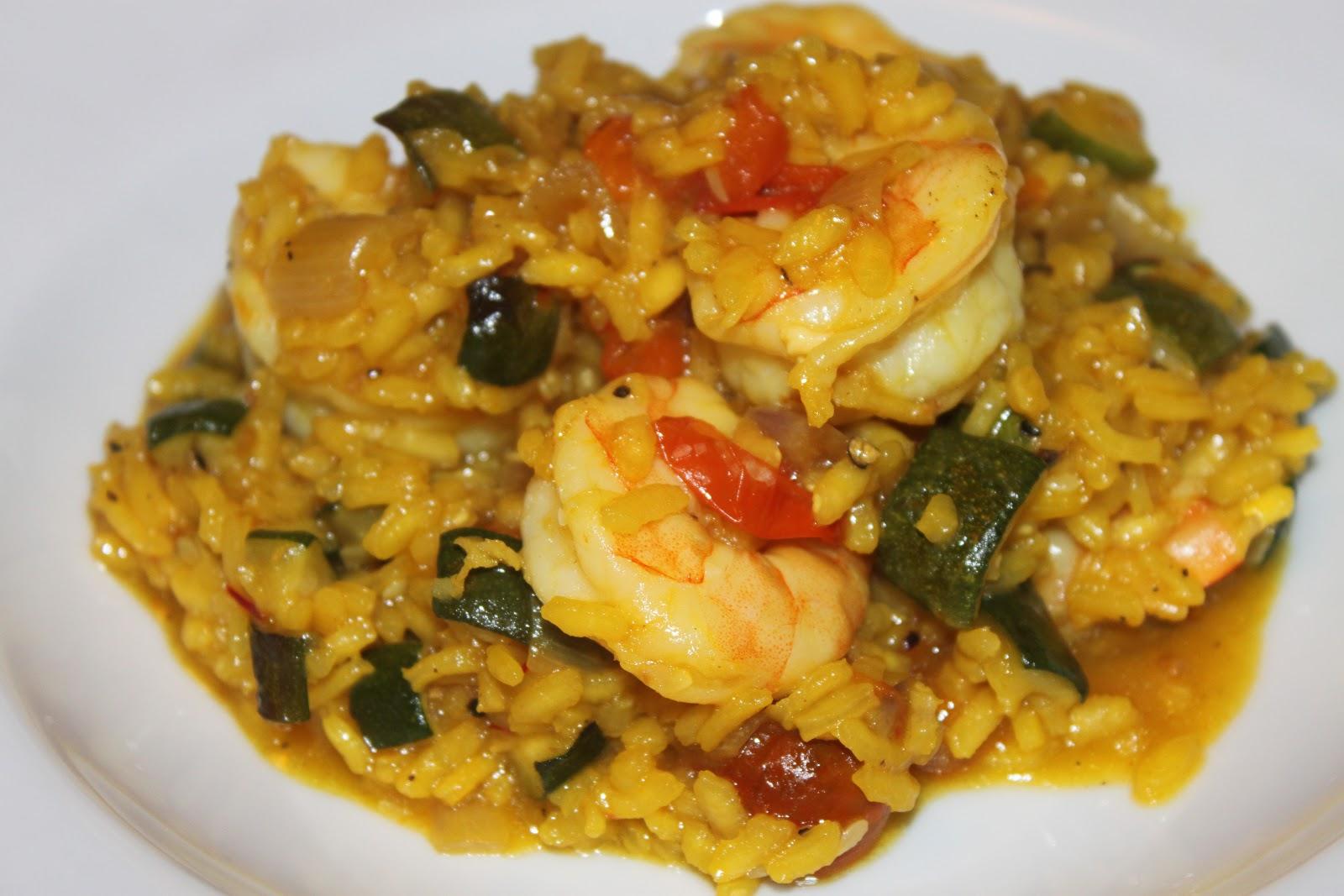 Domestic Divas Blog: Saffron Shrimp Zucchini Risotto