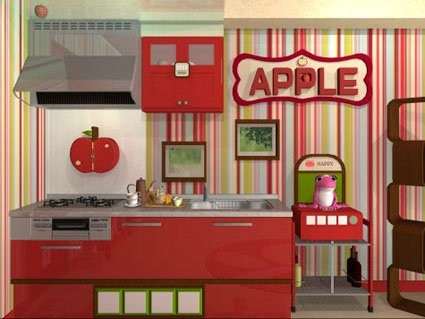 Fruit Kitchens Apple Red