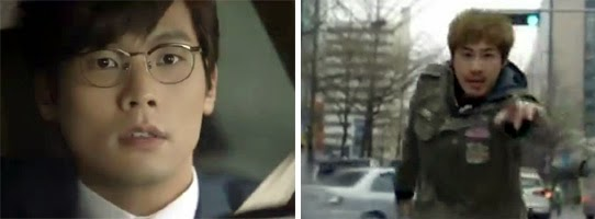 Choi Daniel 최다니엘 as Kang Dong Suk, is startled in his car as Ji Hyuk runs in front of him.