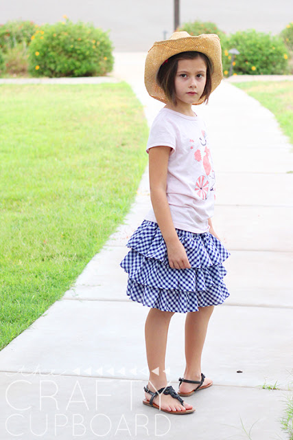 Free sewing tutorial for layered skirt