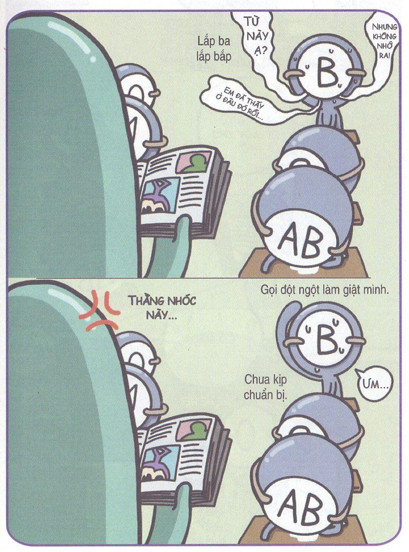 Soi đẳng cấp học tiếng Anh của nhóm máu B