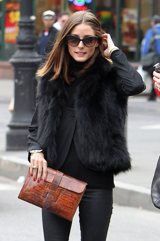 olivia palermo fashion. gotta love a girl in flats-