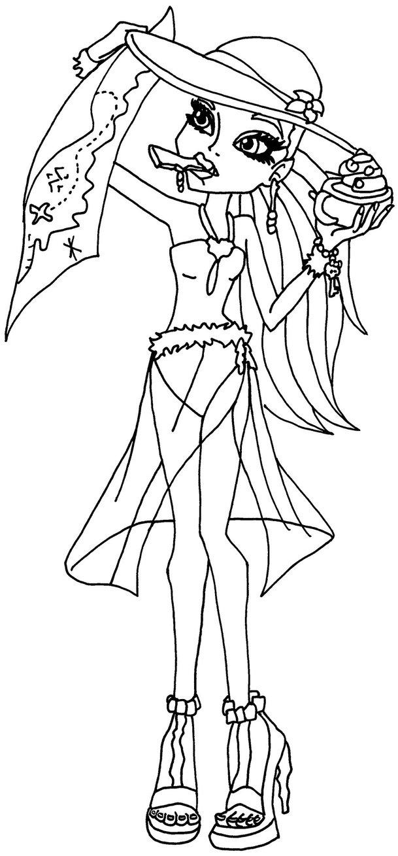 Dibujos Y Plantillas Para Imprimir Dibujos De Monster High Color Page