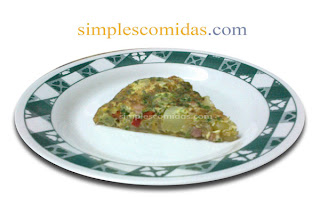 tortilla de papas panceta y cebolla