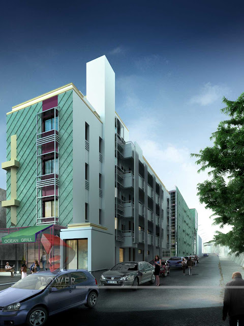 3d Architectural View Of Hotel,3d Architectural Animation