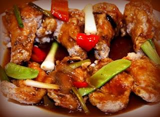 Pollo en salsa de ostión