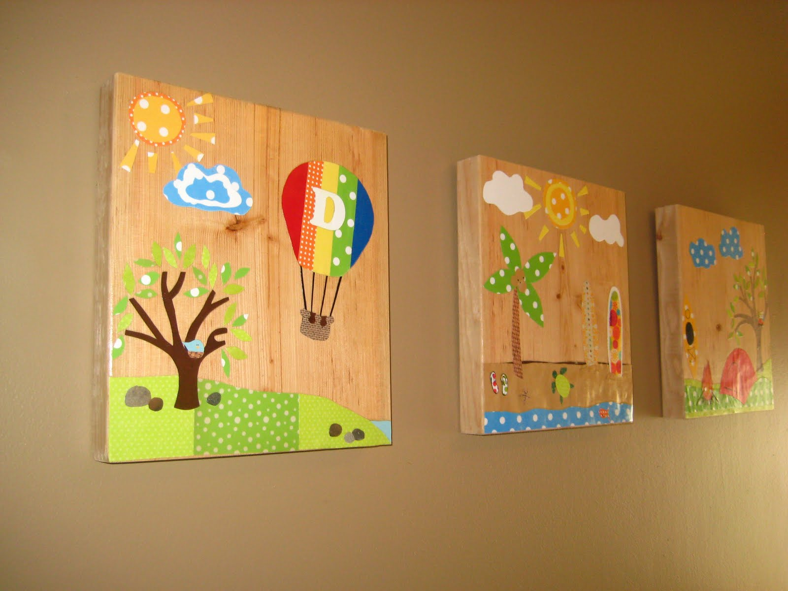 Diy art for kids rooms design dazzle for Kids room wall decor
