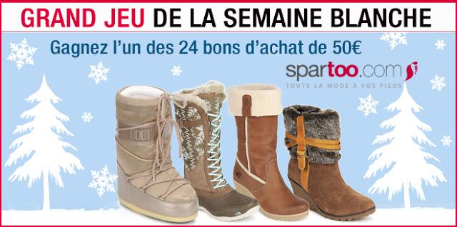24 bons d'achat d'une valeur de 50€ valables sur le site www.spartoo.com