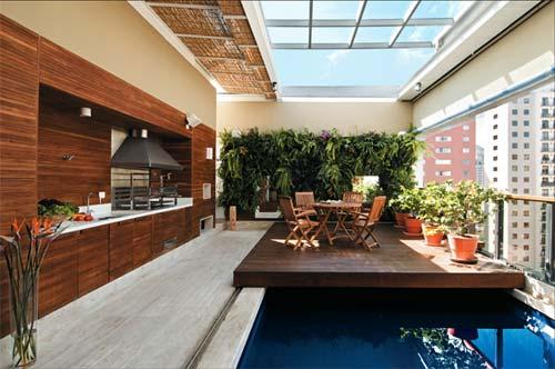 Arquiteta evelyn luci cobertura com piscina for Coberturas para piscinas