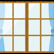 閉じた窓のイラスト