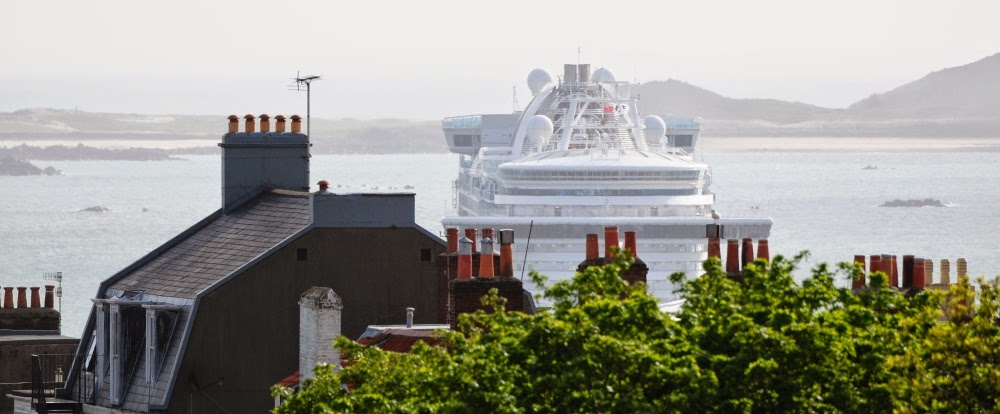 The Ruby Princess was in St Peter Port only for a short half day visit