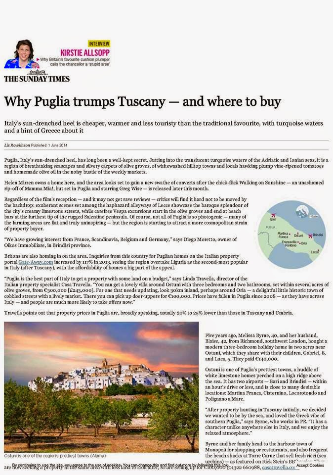 Why Puglia trumps Tuscany-and where to buy