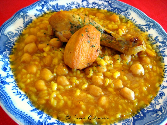 Potaje de garbanzos con arroz y pollo receta f cil y for Cocina facil y rapida