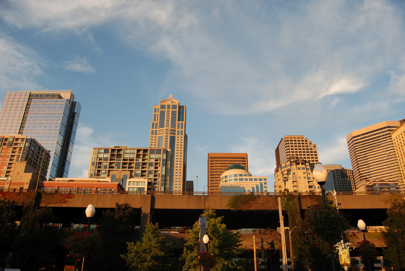 seattle bathed in the late summer 39 s magic hour from the waterfront