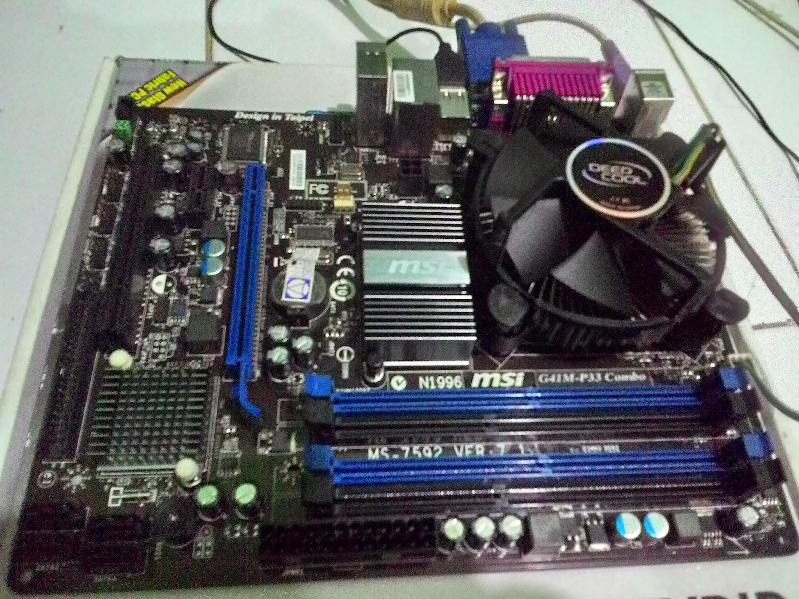 Motherboard Processor Intel Dual Core E5400