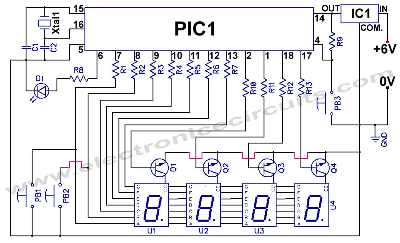 Digital Clock Circuit Using 7490 http://syahidfyp.blogspot.com/2012/08/digital-clock-circuit.html