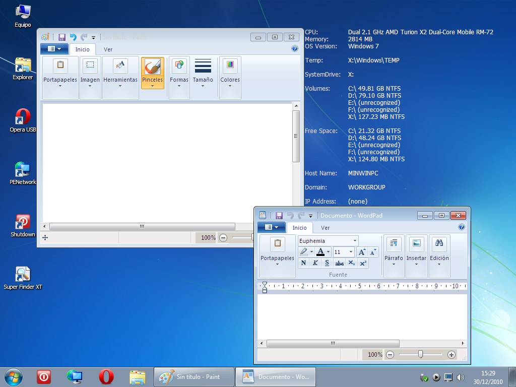 Live usb windows 7.