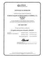 el Certificat UNE 158301