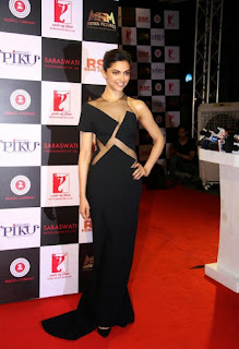 Sexy Deepika Padukone in full see-through black dress