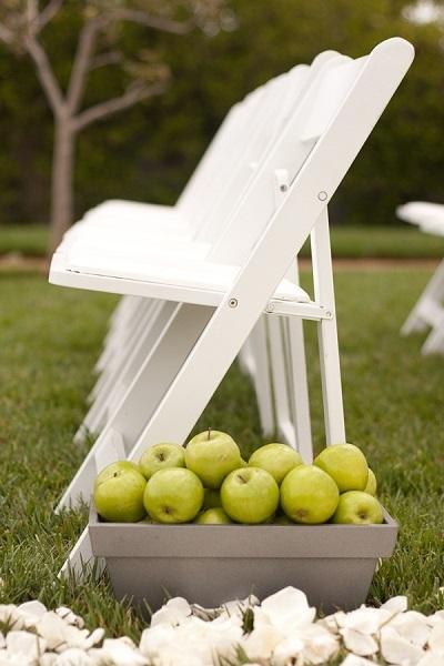 ślub zielone jabłko jako motyw przewodni